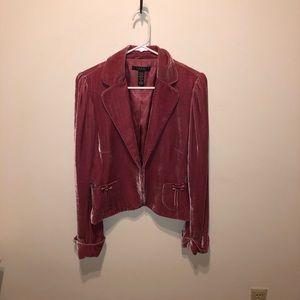 Rose Laundry Crushed Velvet Blazer